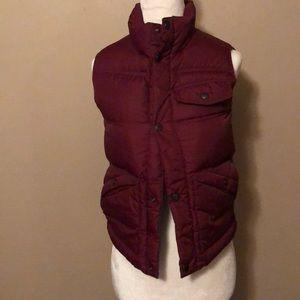 Maroon Land's End Kids puffer vest